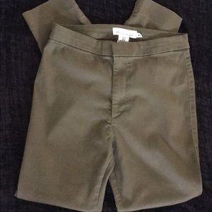 ⭐️H & M Army Green Straight Leg Stretchy Pants